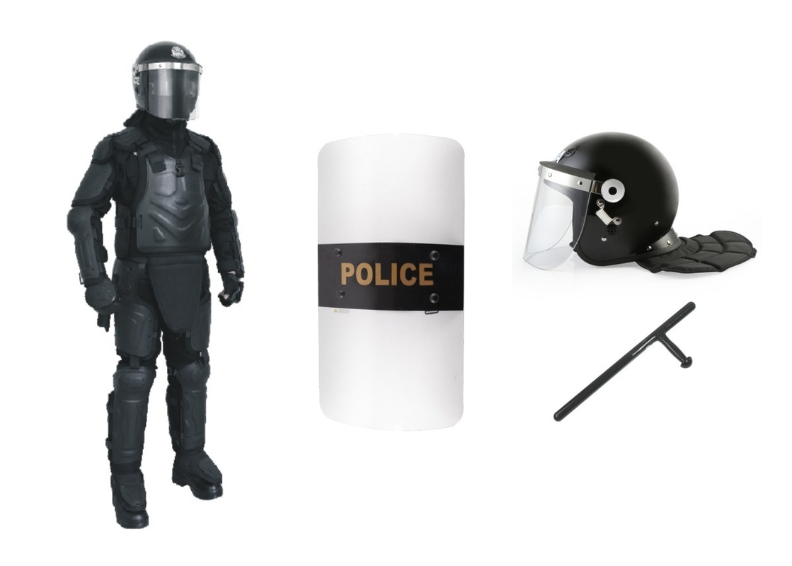 Substantial Protection Police Anti Riot Suit , Tactical Uniforms For Law Enforcement