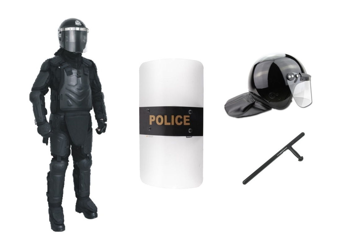 Durable Riot Protective Gear Police Riot Control Equipment With Elbow Protection